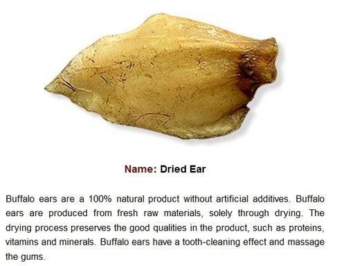 Cattle Ears Natural (Dried)