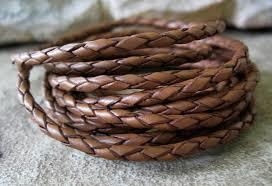 Braided Leather Laces