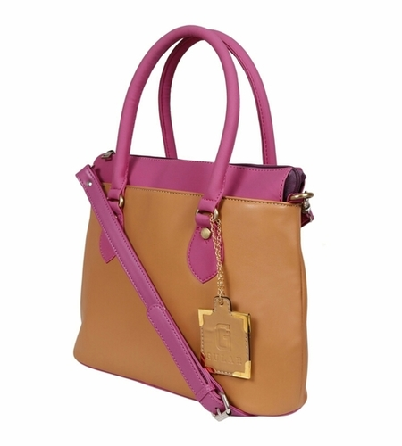 Und 00117 Pink Bege Ladies Synthetic Leather Bags