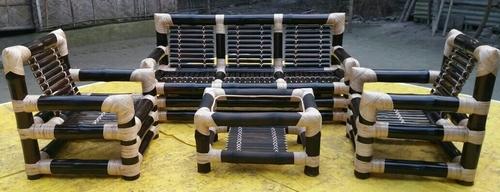 Bamboo Three Seater Sofa Set