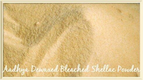 Dewaxed Bleached Shellac Powder