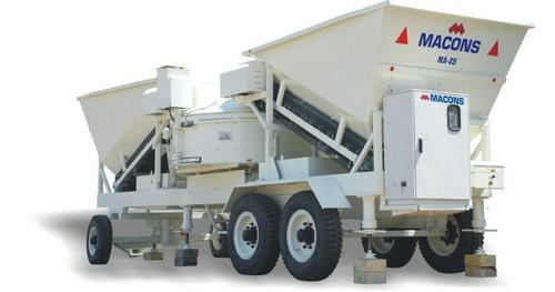 Mini Concrete Mixer Plant : Mini mobile concrete mixing plant in s g road ahmedabad