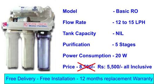 Domestic Basic R.O. Water Purifier