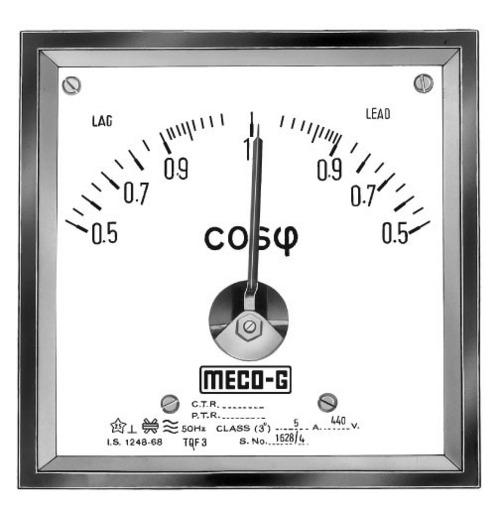Power Factor Meter : Power factor meters in mumbai maharashtra india goliya