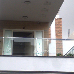 Stainless steel with glass balcony grills in varachha - Box grill designs balcony ...
