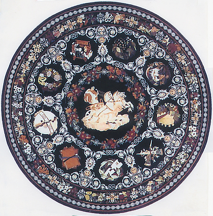 Designer Marble Round Table Tops