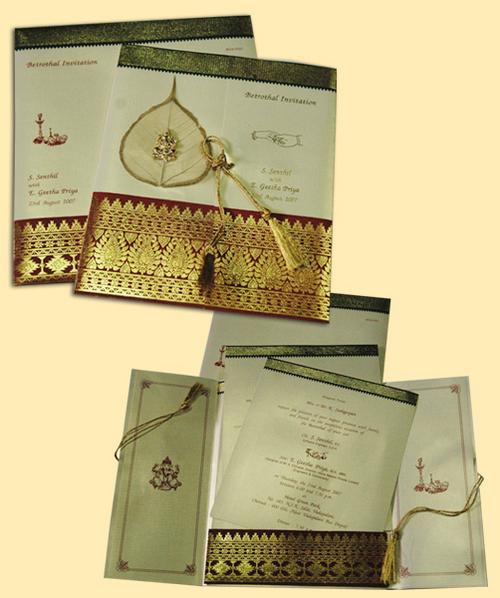 Wedding Card In Kodambakkam Chennai Tamil Nadu India