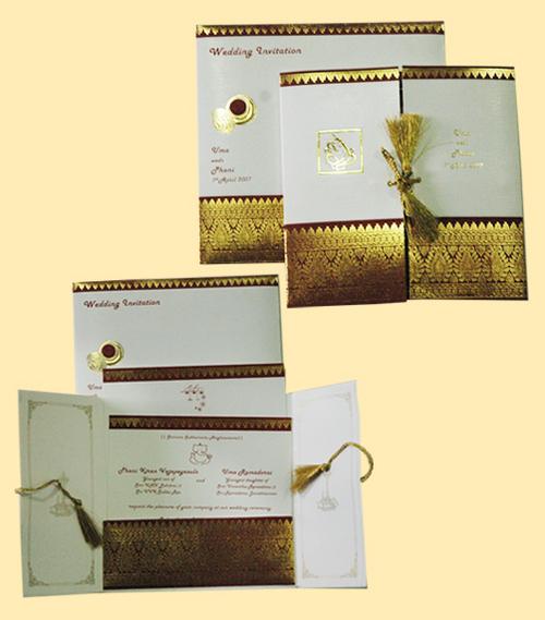DESIGNER SAREE CONCEPT WEDDING CARDS In Chennai Tamil Nadu India