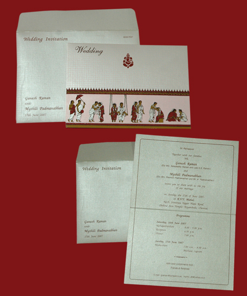 DESIGNER WEDDING INVITATION CARDS In Kodambakkam Chennai Tamil Nadu India
