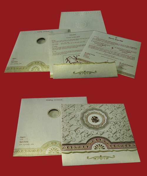 HAND MADE PRINTED MARRIAGE INVITATION CARDS