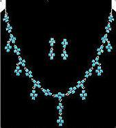 Silver Sterling Turquoise Necklace Set