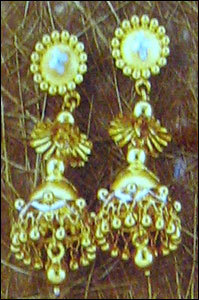 Antique Gold Ladies Jhumkis