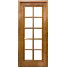 replace sliding glass door with single door