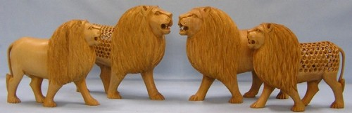 Carved Lion Set