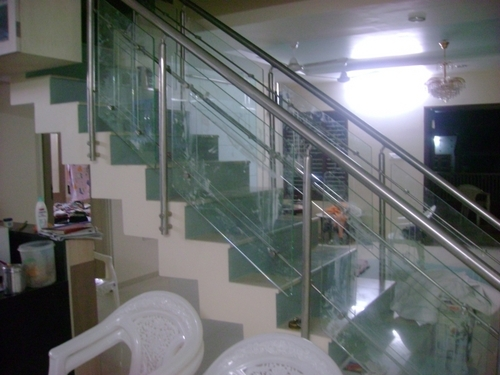 S. S. Staircase Glass Railing