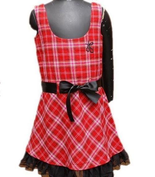 Petit Ami Girl's Red/ White Smocked Check Dress | Overstock.com