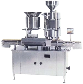 Automatic Rubber Stoppering With Aluminum Cap Sealing Machine
