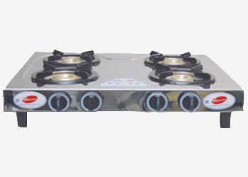 Sleek Four Burner Gas Stove