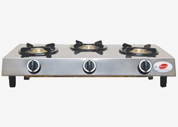 Sleek Triple Burner Gas Stove