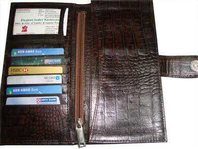 Mens Leather Zipper Wallet
