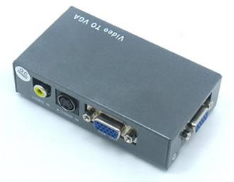 AV Video S-video To VGA Converter