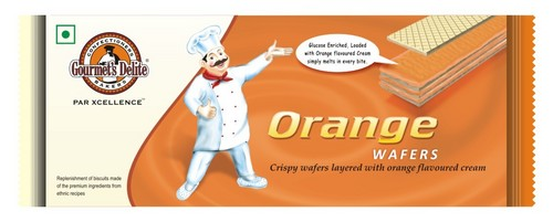 Orange Cream Wafer Biscuit