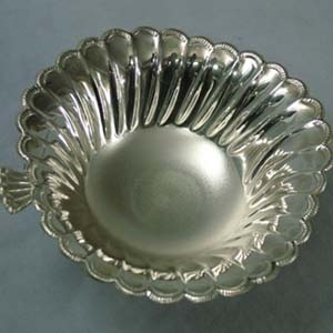 Apple Shaped Silver Fruit Bowls
