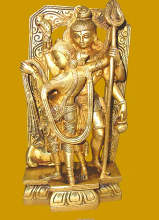 Shiva Parvati Standing In Loving Pose
