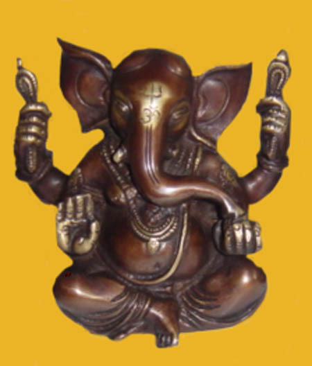 Ganesha Appu Shape 4 Arms And W/Out Base