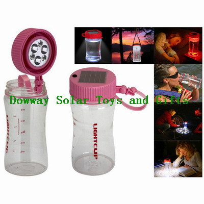 Solar LED Water Bottle