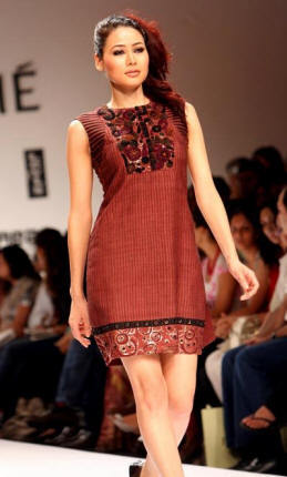 Silk With Embroidery Dress