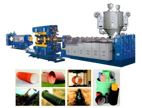 Pe/Pvx Large Dia. Double-Wall Corrugate Pipe Extrusion Line