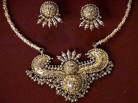 Indian Antique Gold Necklace Sets Antique Gold Necklace Set