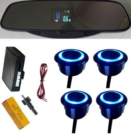 VFD Display Auto Reverse Parking Sensor With 4 Flash Rear Sensors