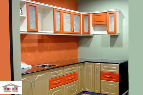 Over head modular kitchen cabinet in rajkot gujarat for Sample modular kitchen designs