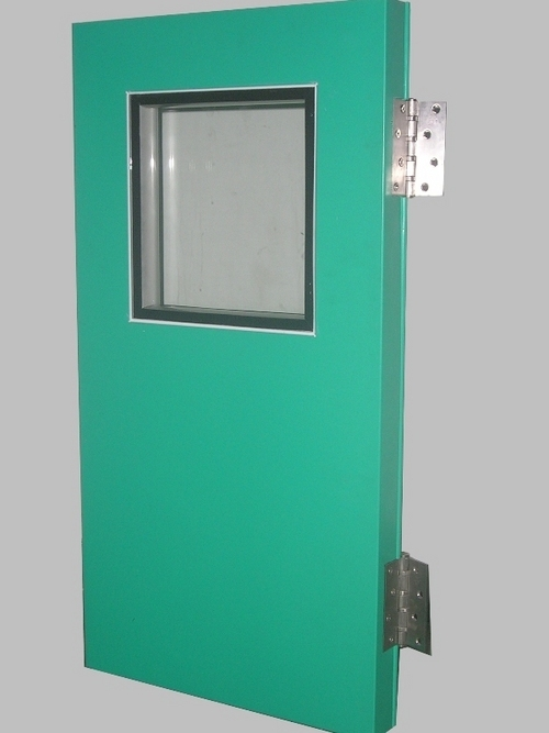PUF insulated steel door