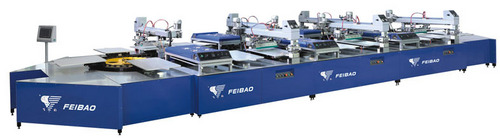 Feibao Multi-Color Automatic Textile Printing Machine
