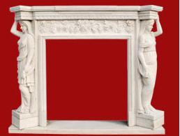 Crafted Marble Fireplace