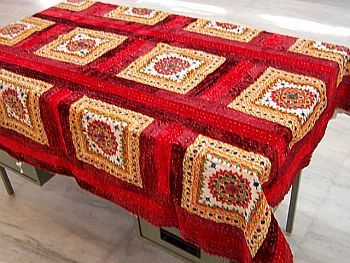 Mirror Work Table Linen