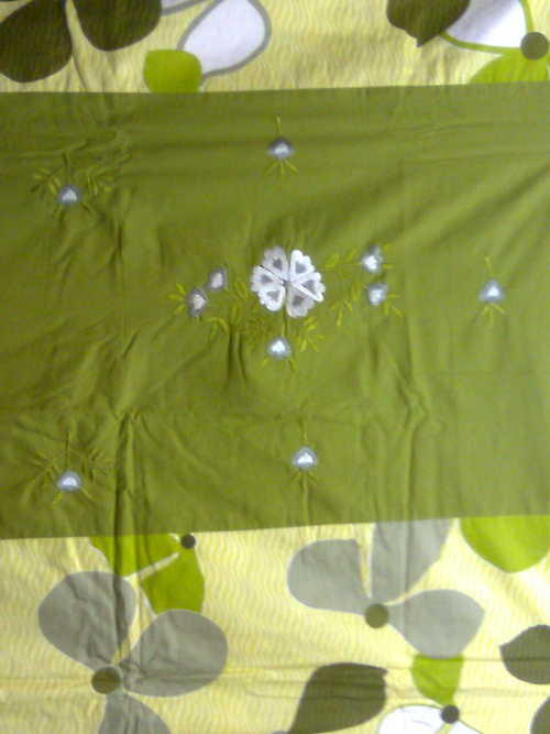 Bedsheet With Applique Work