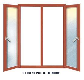 Tubular profile windows in pune maharashtra india for Tubular window design