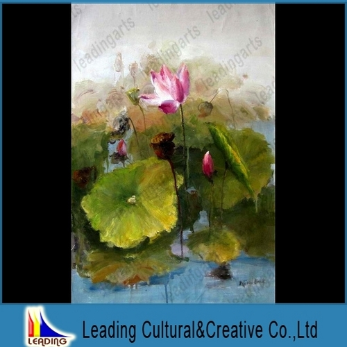 Abstract Lotus Painting Lotus Flower Pond Abstract