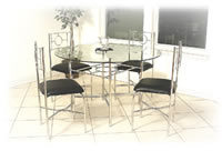 Steel Table Set