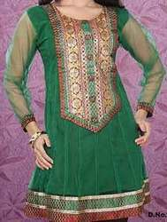 Ethnic Green Silk Kurta