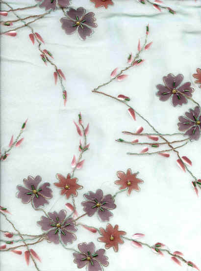 Georgette fabric with paint and embroidery in rowland road