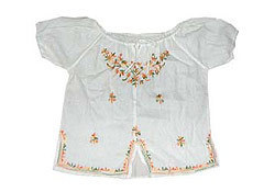 Ladies Embroidered Short Tops