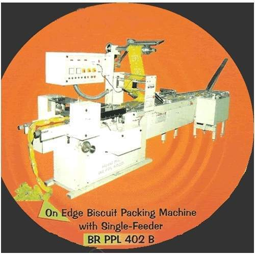 On Edge Biscuit Packing Machine With Single Feeder