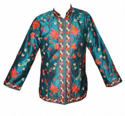 Ari Embroidery Silk Short Jackets