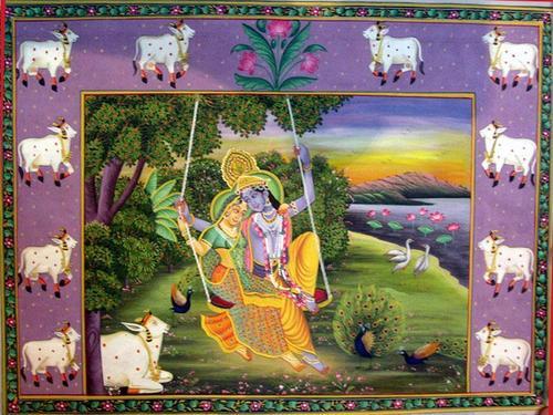 Krishna Radha Miniature Paintings Radha Krishna Paintings