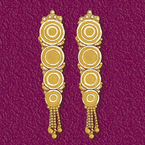 Gold Earrings For Women In India Luxury Green Gold